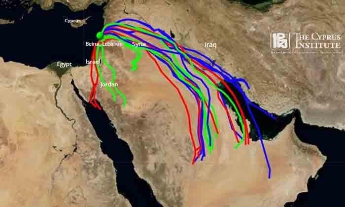 Το ΙΚύ ανέπτυξε μοντέλο πρόβλεψης πιθανής ατμοσφαιρικής μεταφοράς ρύπανσης από την έκρηξη στη Βηρυτό